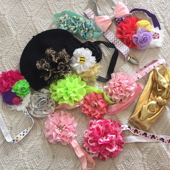 Other - Bow, headband, hat, pacifier clip bundle
